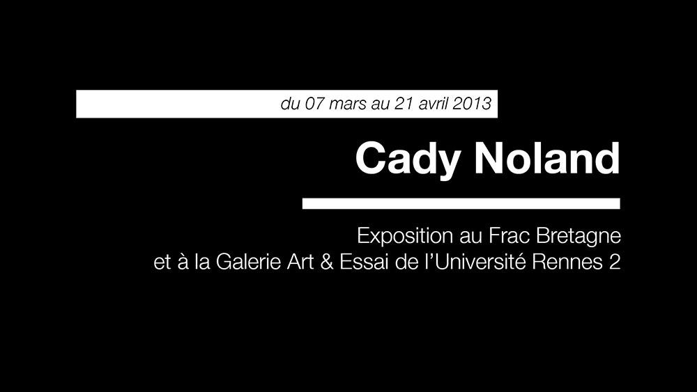 Cady Noland - Une exposition de Cady Noland |