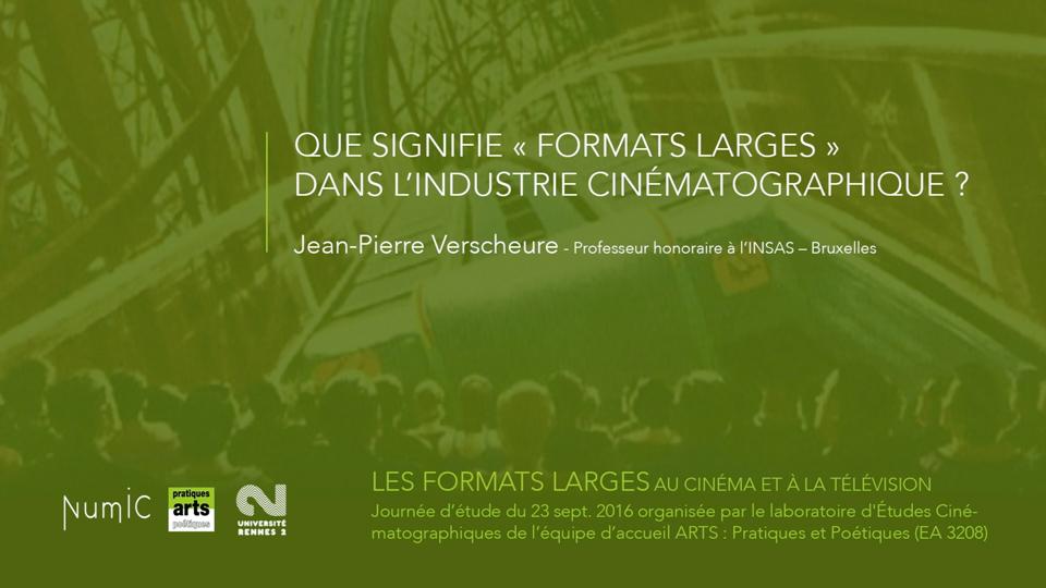 Tournage Numic Formats Larges